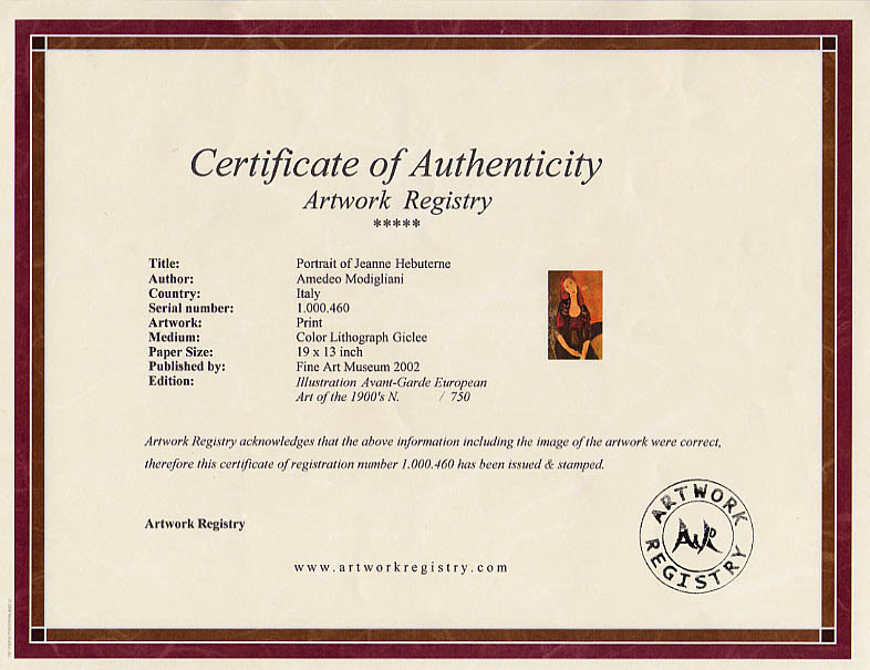 ARTWORK REGISTRY.COM